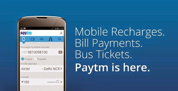 Rs 100 Recharge or Bill Payment @ Rs 50 - Paytm Mobile App