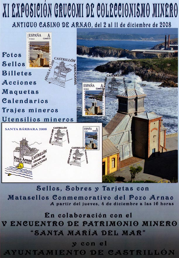 Cartel de la  XI Exposición de Coleccionismo de Grucomi en Arnao