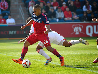 Quincy Amarikwa of the Chicago Fire (Photo Courest USA Today Sports Images