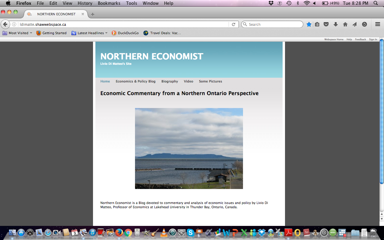 Original Northern Economist Entry Page