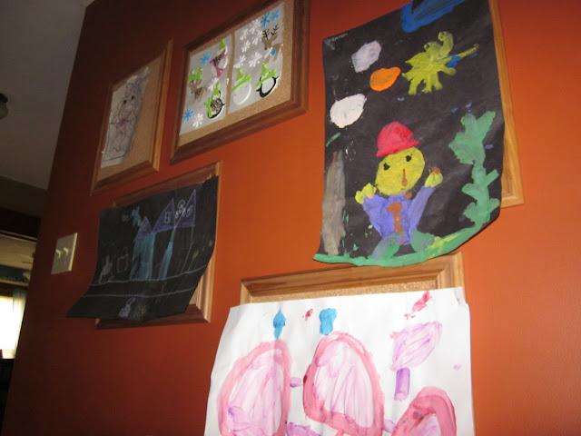 I Make Stuff Cork Tile Display Frames For Children S Art