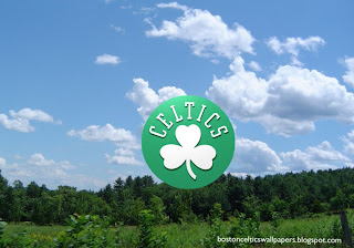 Desktop Wallpapers Boston Celtics Front Logo in Tropical Forest Sky Desktop wallpaper