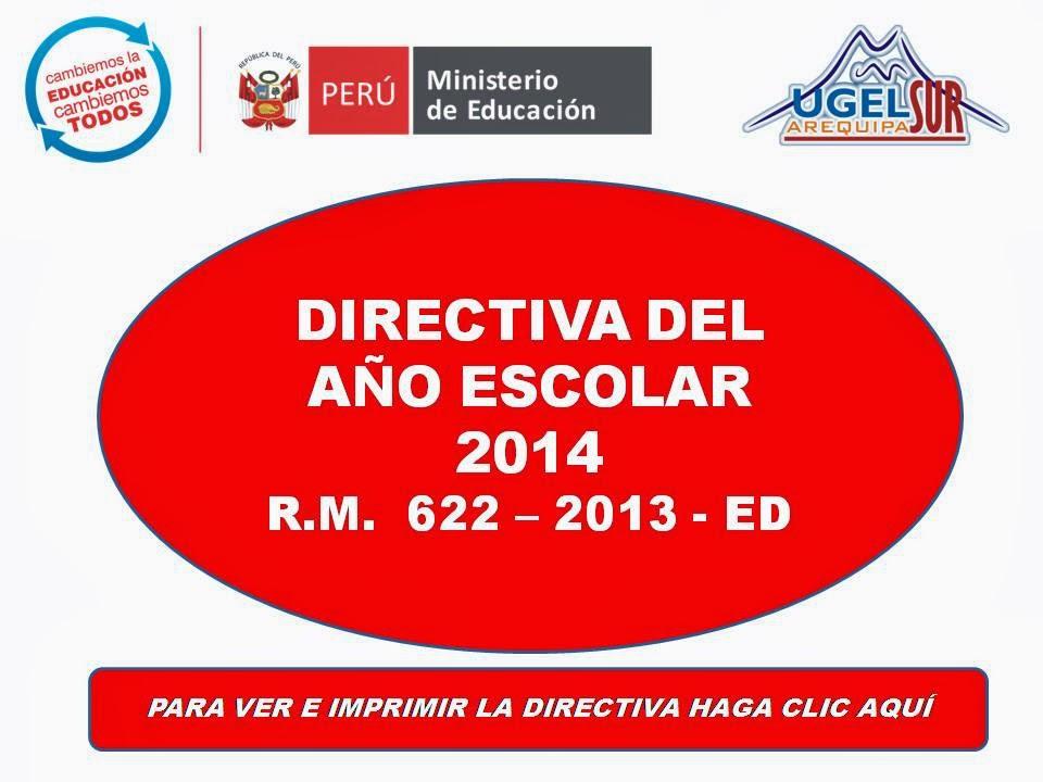 DIRECTIVA DEL AÑO ESCOLAR 2014