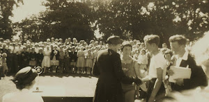 Prize giving at Sports Day by Councillor Mrs Kerr