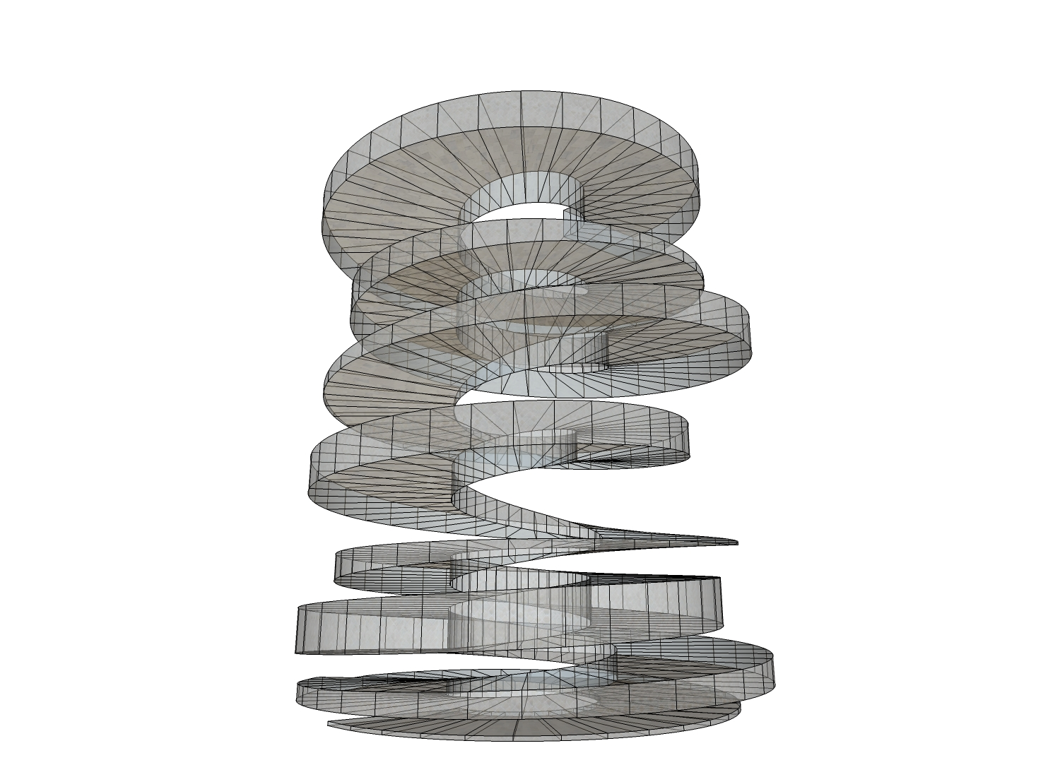 Cloud9 spiral ramp study by dc of sketchup for Cloud 9 architecture