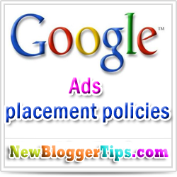 Google Adsense Ad placement policies