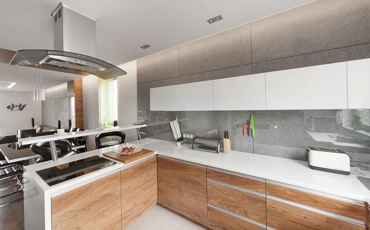 Dise o interior apartamento d plex en sosnowiec - Cocina diseno moderno ...