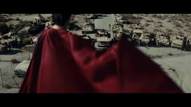 man of steel superman army face off