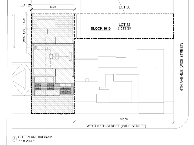 Site plan of 105 West 57th Street