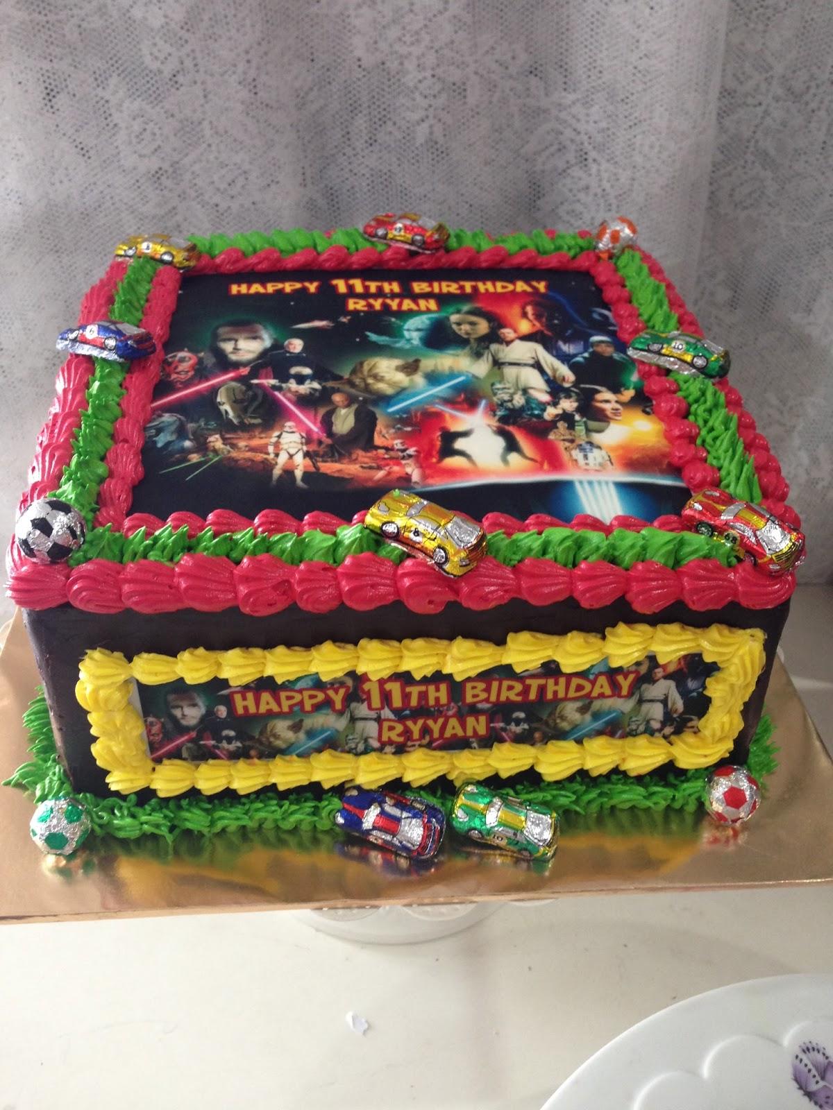 ninie cakes house: Birthday Cake Star Wars Theme With ...
