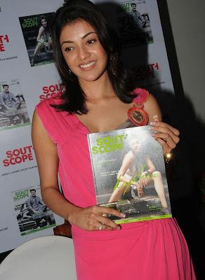 Kajal Agarwal Hot Pink Skirt at South Scope Function Stills