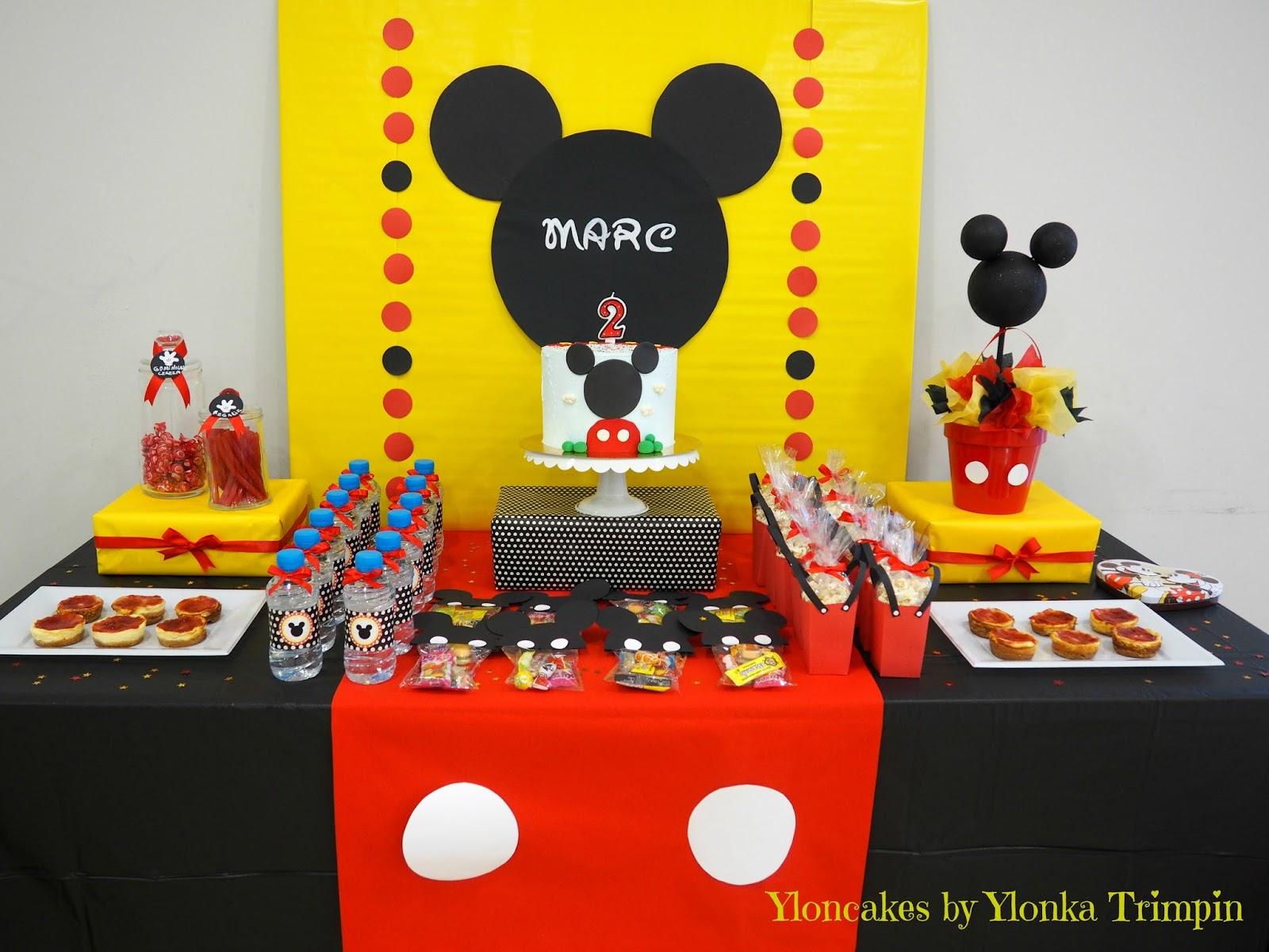 Yloncakes mesa dulce mickey mouse for Mesa de cumpleanos de mickey