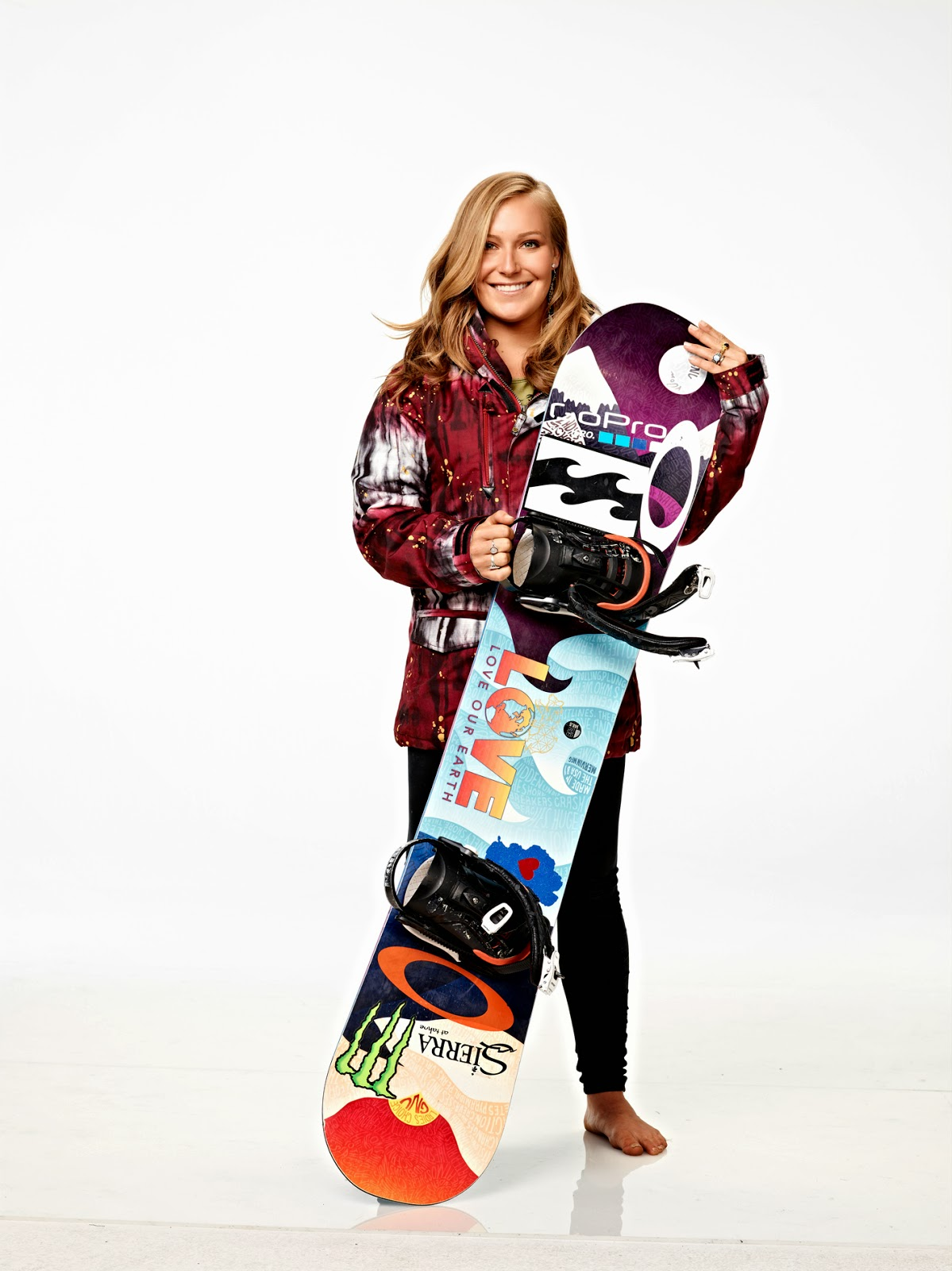 Women's snowboard slopestyle gold medalist, Jamie Anderson