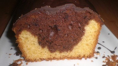Thermomix Marble Cake Black and White width=