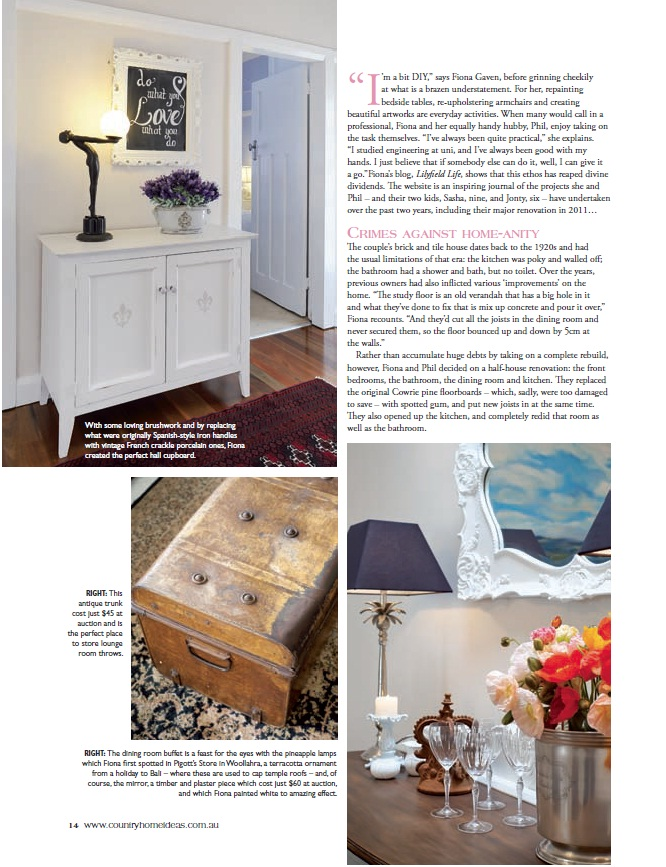 Lilyfield Life: Lilyfield Life Country Home Ideas magazine feature