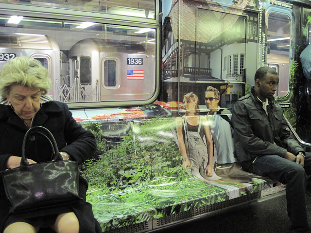Find yourself transported to Switzerland with this Strangely New York subway billboards
