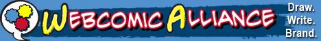 banner, webcomic, podcast