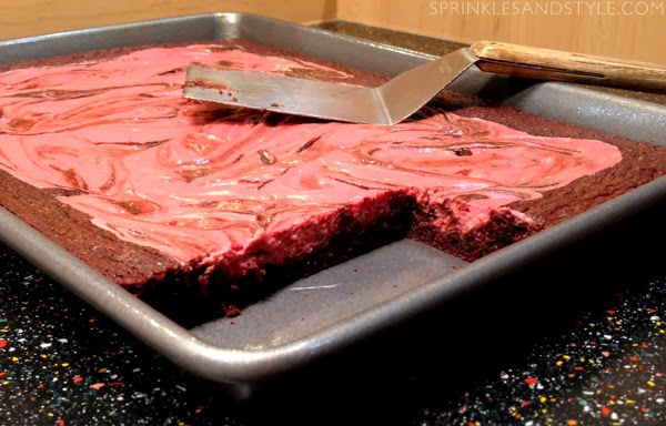 Raspberry Cheesecake Brownies    Sprinkles and Style