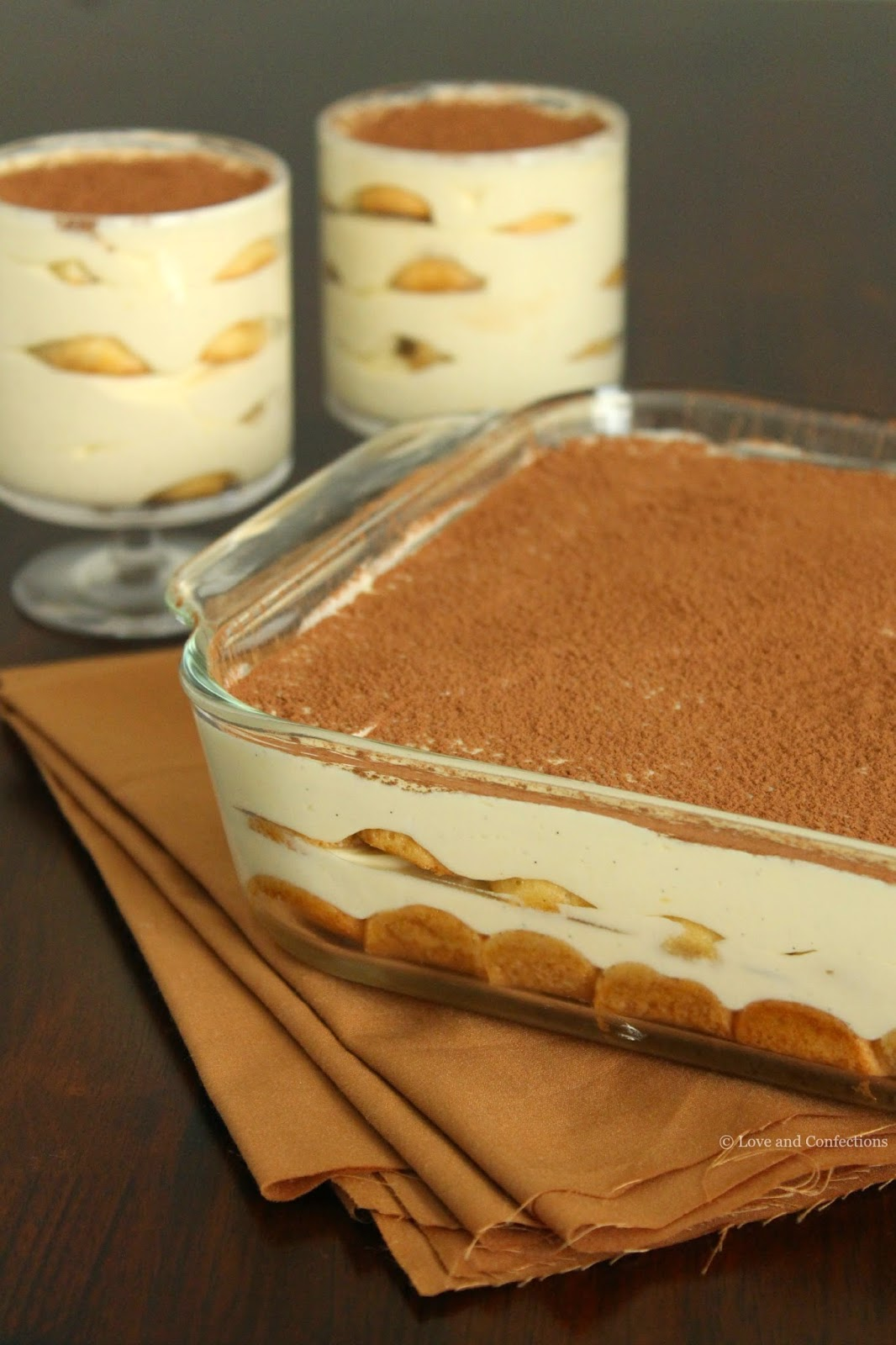 Vanilla Bean Tiramisu from LoveandConfections.com