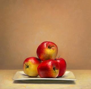 Manzanas Rojas Oleo Bodegones
