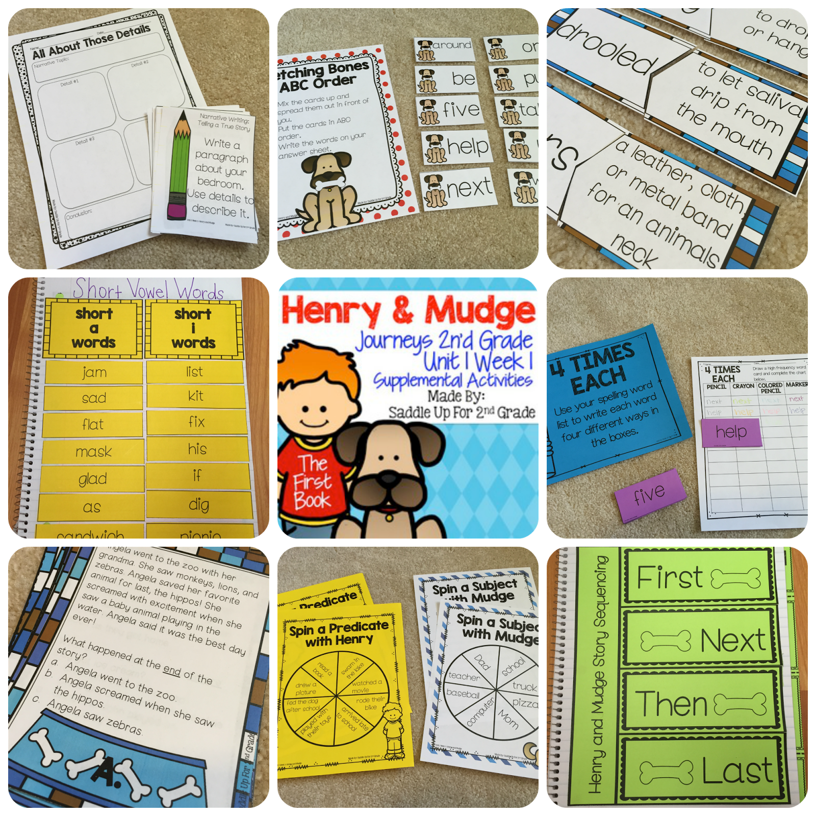 Henry and Mudge Supplemental Activities Journeys 2nd Grade