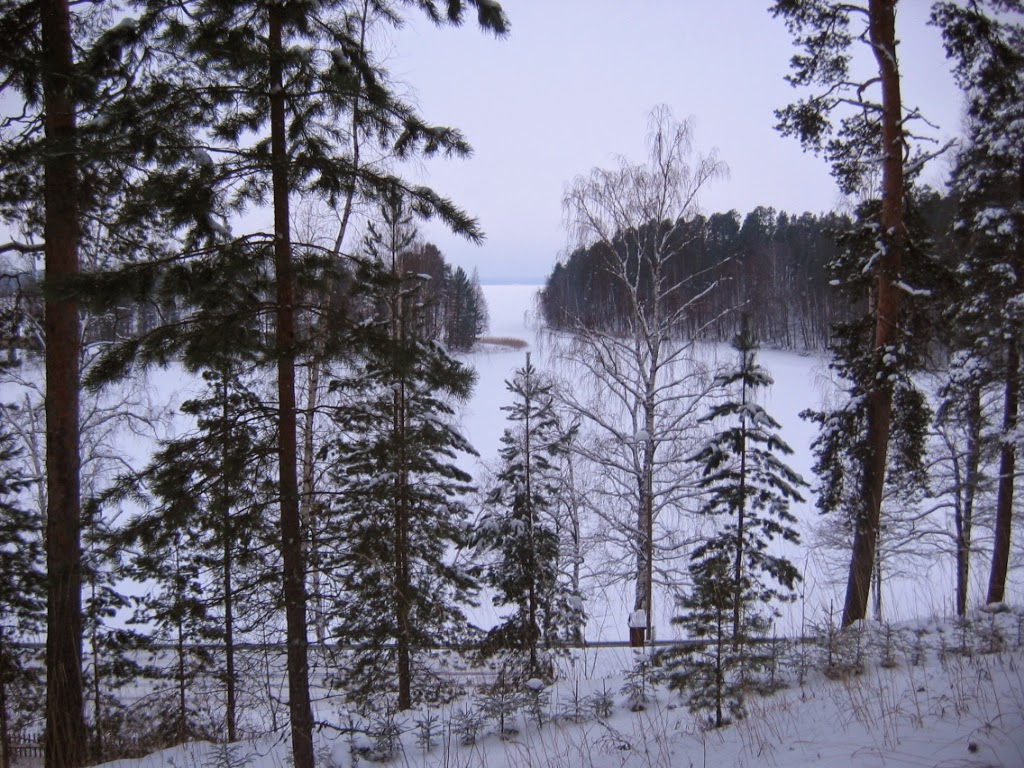 Finland's lakes now freeze later in the year and melt sooner as the warmth seeps southwards. (Credit: Sepp Vei via Wikimedia Commons) Click to Enlarge.