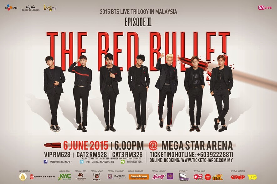 BTS, konsert, Malaysia, 2015, Mega Arena