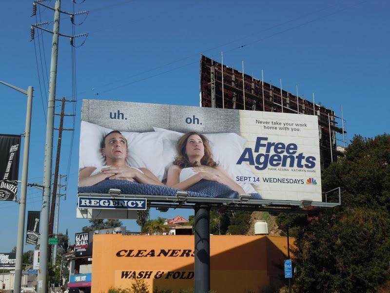 Free Agents TV billboard