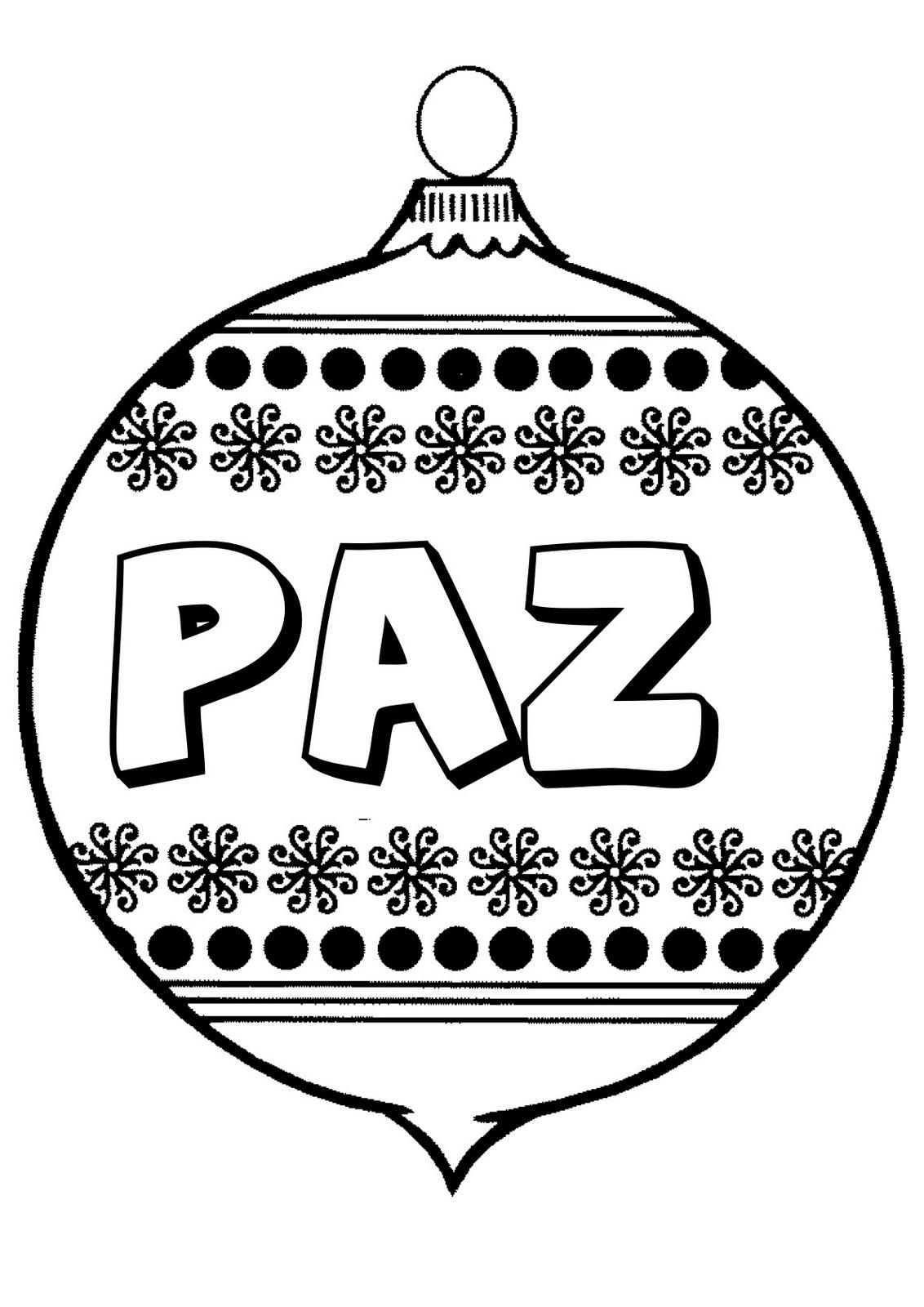 Dibujos para imprimir y colorear: Bolas de Navidad para colorear