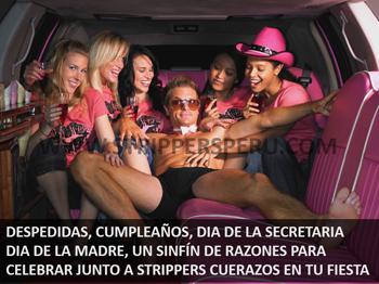 Cualquier escuza es buena para celebrar con Strippers Peru