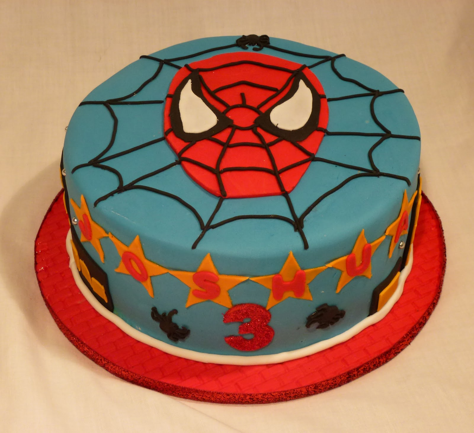 Happy Birthday Cake Joshua Images ~ Cakes and other delights spiderman happy rd birthday josh