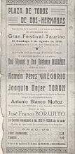 Toros en Dos Hermanas. 5 de agosto de 1934.