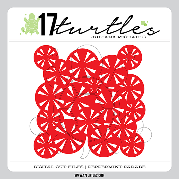 Peppermint Parade Digital Cut File by 17turtles