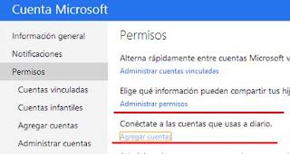 conectar outlook facebook y twitter