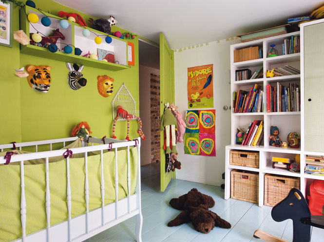 The boo and the boy boys 39 rooms - Deco chambre vert anis ...