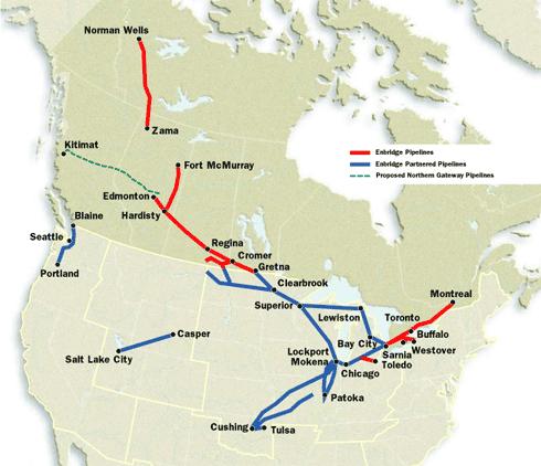 Overallenbridgepipeline Mapimage on Location Of Keystone Pipeline