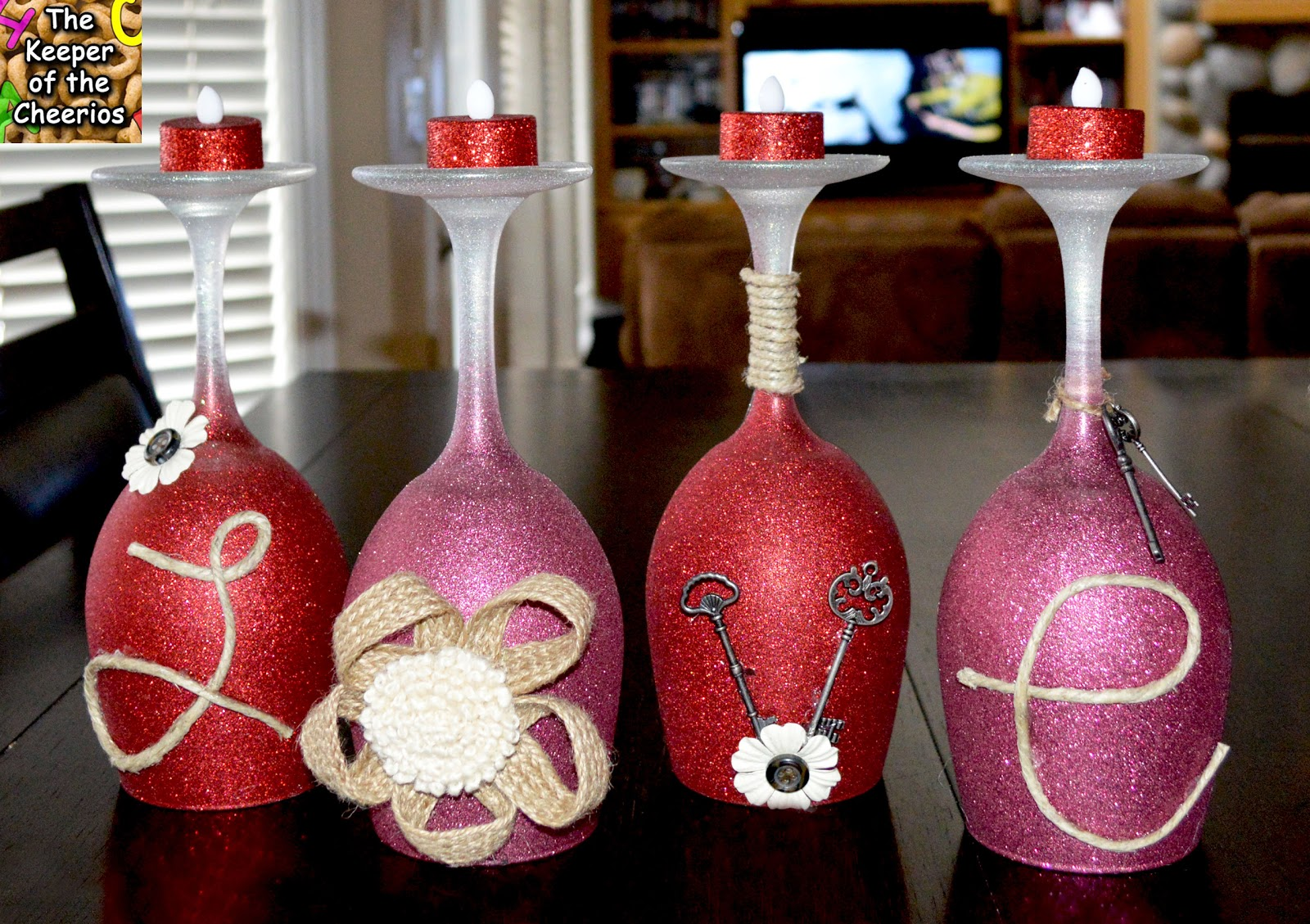 Valentines day wine glasses for Holiday wine glass crafts