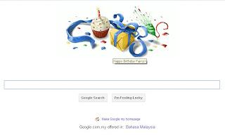 Google Birthday wish doodle