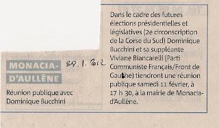 Bucchini réunion politique