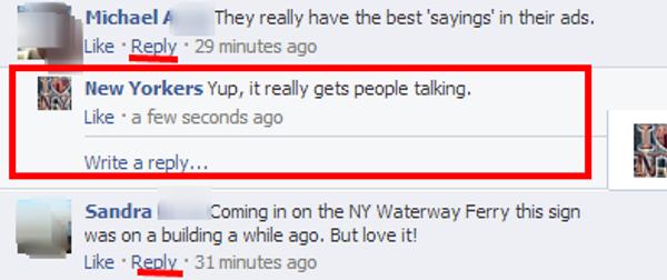 rispondere commenti facebook
