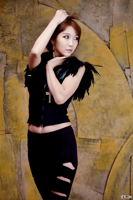 Go Jung Ah Sexy in Black