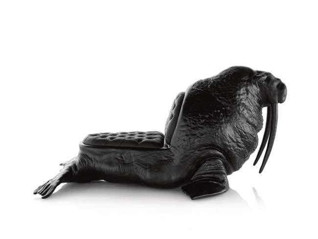 chair, sillas, esculturas, animales, morsa, walrus