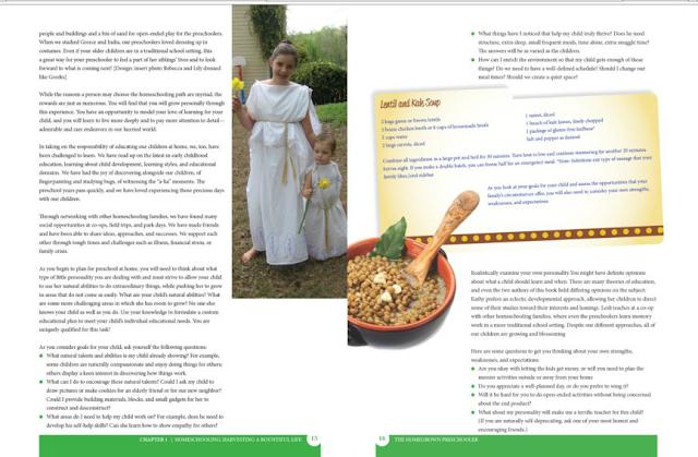 inside view of The Homegrown Preschooler book