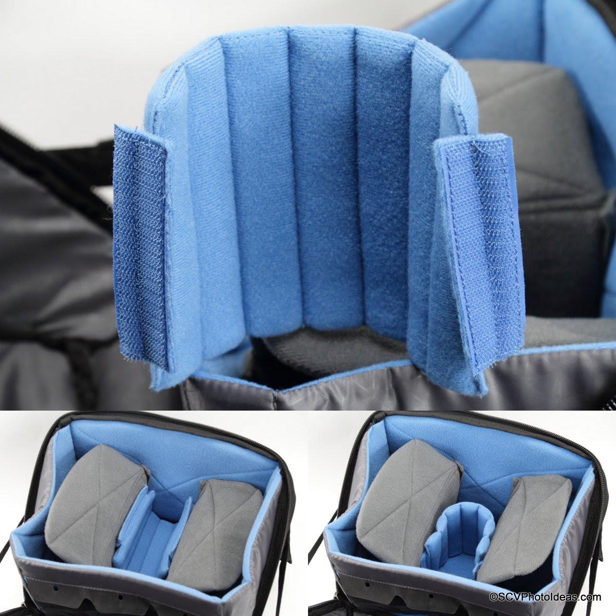 Case Logic DSB-103 main compartment short snake divider detail & usage options