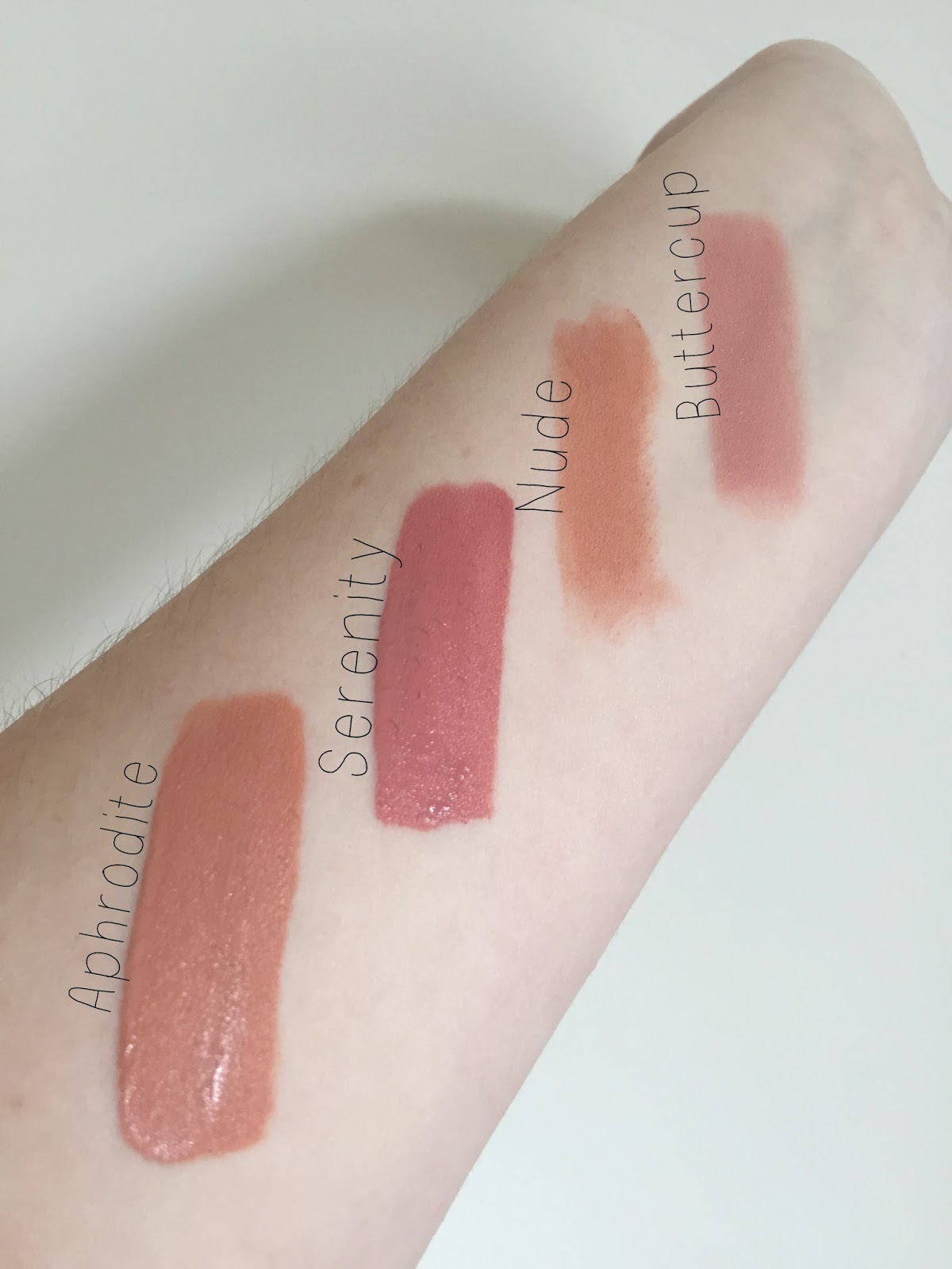 Gerard Cosmetics Lips Swatches