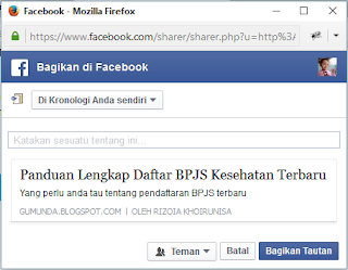 facebook share tanpa open graph