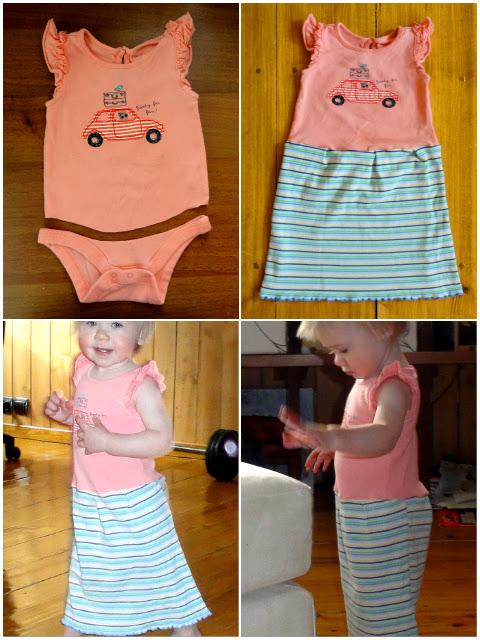 Переделать старое платье в детское
