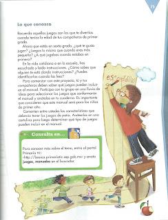 Apoyo Primaria Español 6to Grado Bloque II Lección 6 Elaborar un manual de juegos de patio