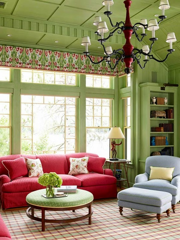 Living room color schemes 20 green blue color combinations for Beiges sofa welche wandfarbe