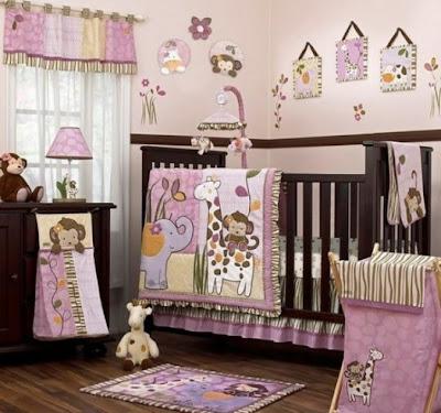 dormitorio para bebé safari